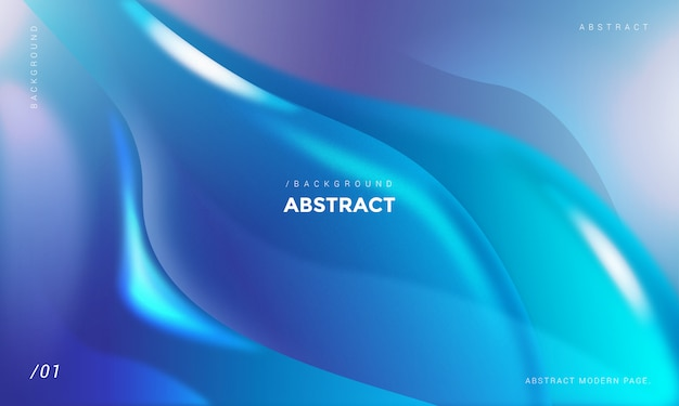 Abstrait bleu vagues 3d Vecteur Premium