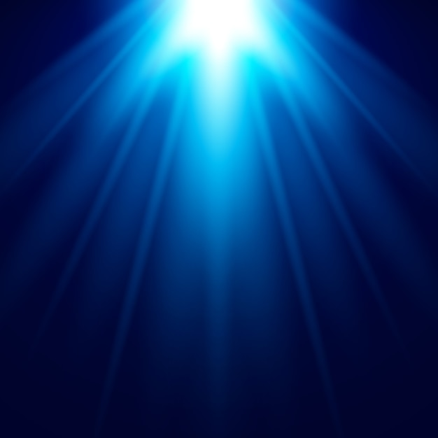 Abstrait blue light effet vector background Vecteur Premium