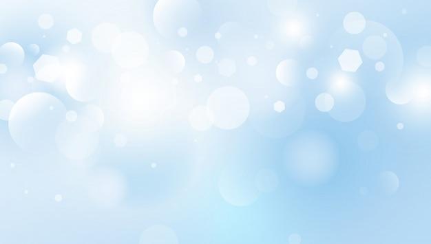 Abstrait Bokeh S'allume Fond Illustration Vectorielle Vecteur Premium
