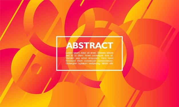 Abstrait avec cercle et anneau superposés en couleur orange Vecteur Premium