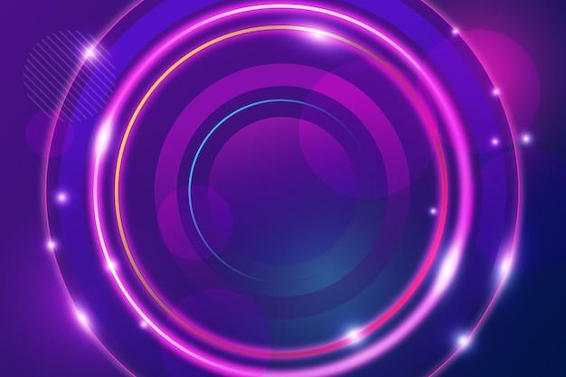 Abstrait Avec Des Cercles Brillants Vecteur gratuit