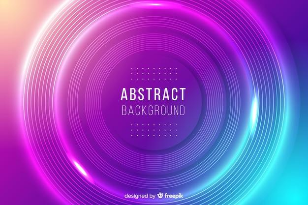 Abstrait de cercles colorés Vecteur gratuit