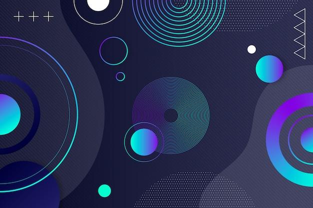 Abstrait Avec Cercles Vecteur gratuit