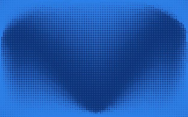 Abstrait chèque bleu ou coeur en pointillé Vecteur Premium