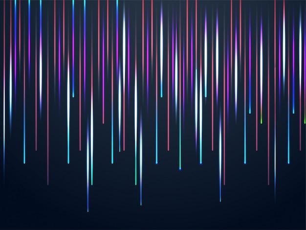 Abstrait chute de lumière laser coloré. Vecteur Premium