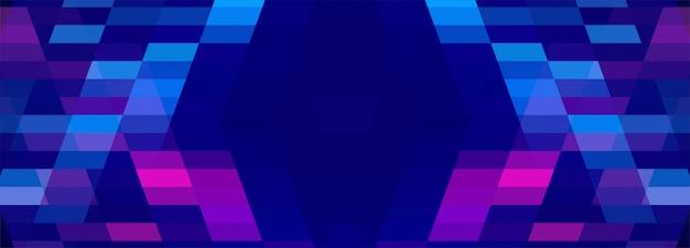 Abstrait Coloré Bannière Géométrique Vecteur gratuit