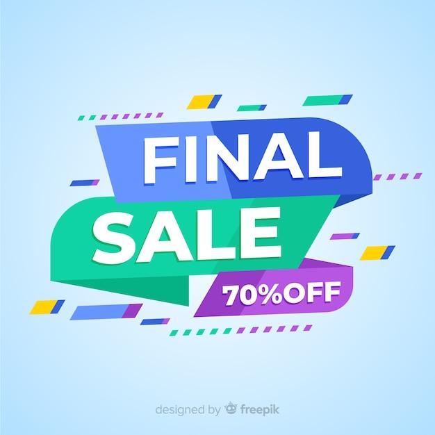Abstrait coloré bannière de vente finale Vecteur gratuit