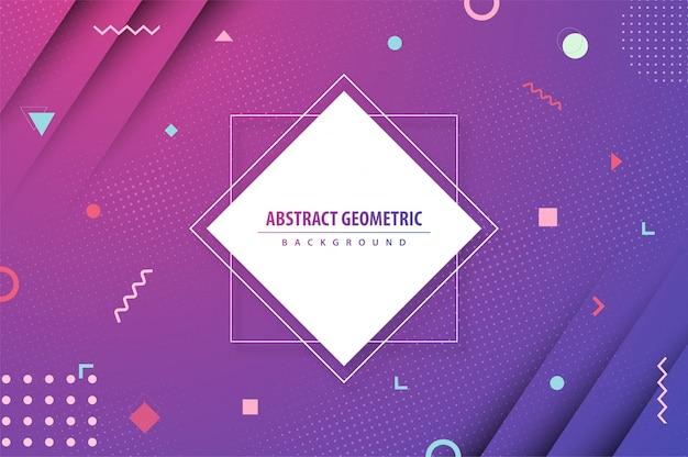 Abstrait Coloré Dégradé Géométrique Vecteur Premium