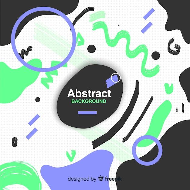 Abstrait coloré avec design plat Vecteur gratuit