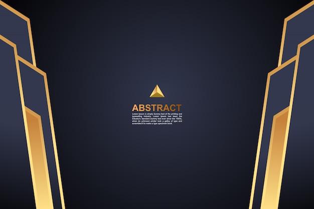 Abstrait coloré fond géométrique doré foncé Vecteur Premium