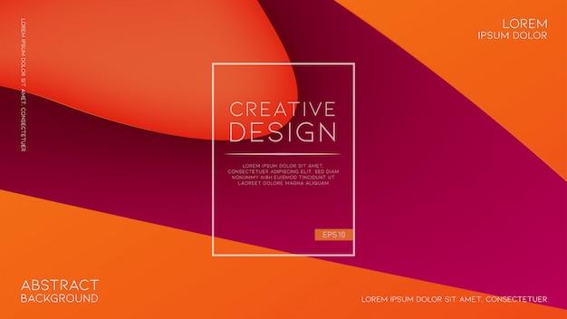 Abstrait Coloré Avec Des Formes Fluides Dynamiques Vecteur Premium