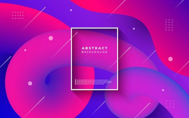 Abstrait coloré avec des formes fluides Vecteur gratuit