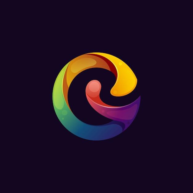 Abstrait coloré lettre g logo premium Vecteur Premium
