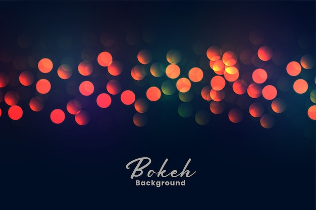 Abstrait coloré lumières bokeh Vecteur gratuit