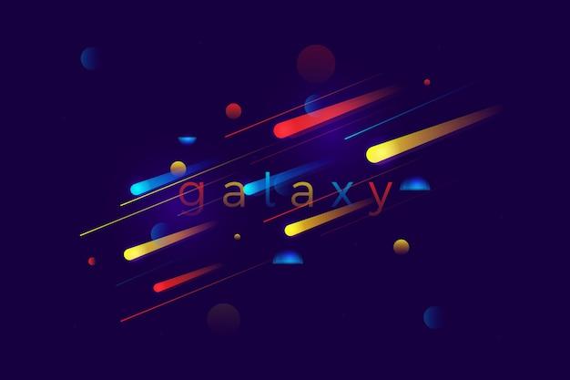 Abstrait coloré mouvement de vitesse de galaxie Vecteur Premium