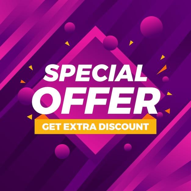 Abstrait coloré offre spéciale fond moderne Vecteur Premium