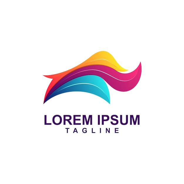 Abstrait Coloré Rhino Logo Premium Vecteur Premium