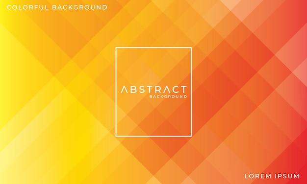 Abstrait coloré rouge et jaune Vecteur Premium