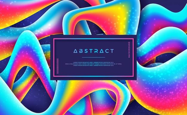 Abstrait coloré avec le style 3d et la couleur du dégradé. Vecteur Premium