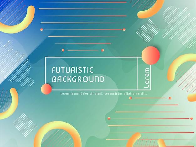 Abstrait coloré techno futuriste Vecteur gratuit