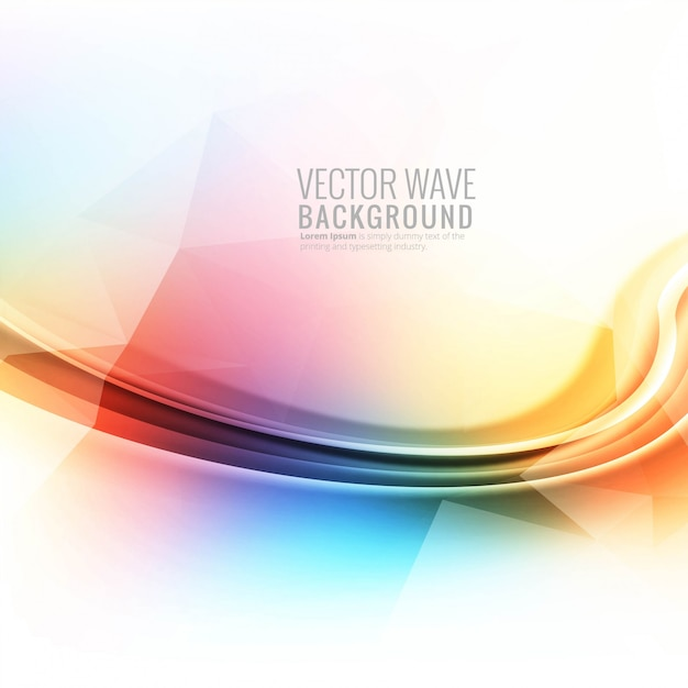 Abstrait coloré vague fond brillant Vecteur gratuit