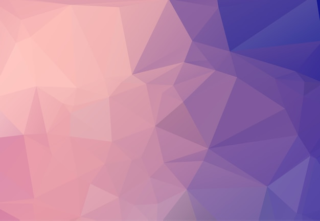 Abstrait composé de triangles roses. Vecteur Premium