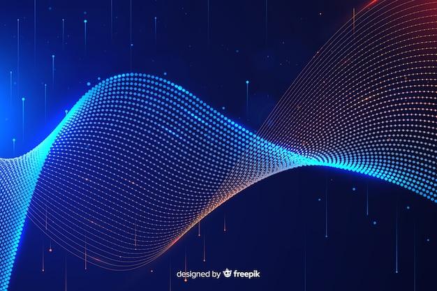 Abstrait concept de données volumineuses Vecteur gratuit