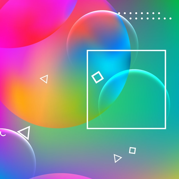 Abstrait conception géométrique minimale. Vecteur Premium