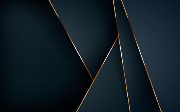 Abstrait des couches de chevauchement sombres Vecteur Premium