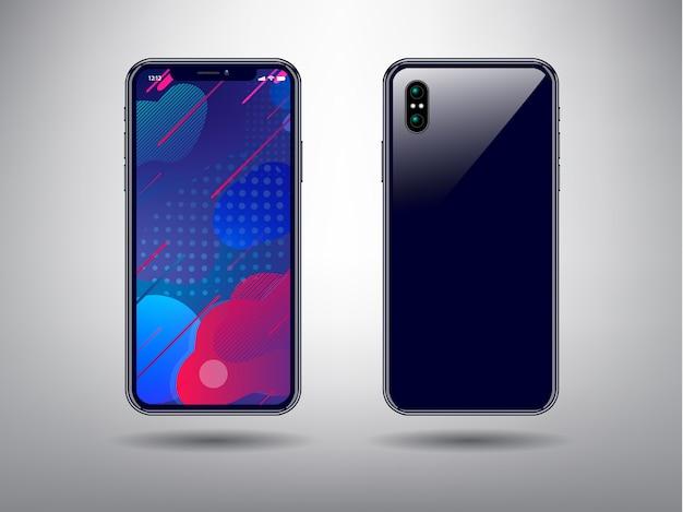 Abstrait couleur pour modèle de téléphone intelligent Vecteur Premium