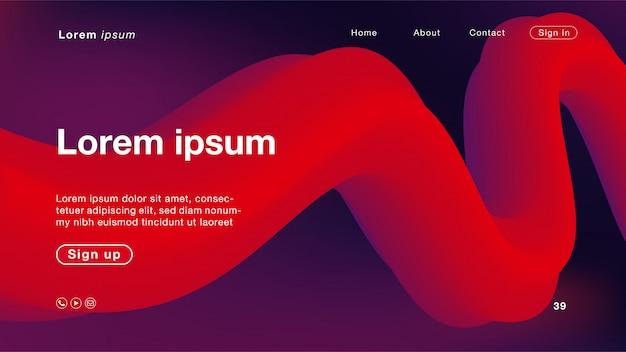 Abstrait couleur violet et rouge pour la page d'accueil Vecteur Premium