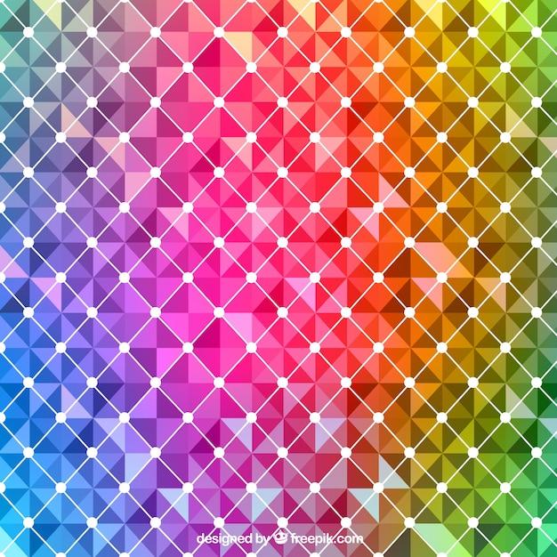 Abstrait dans les couleurs de l'arc-en-ciel Vecteur gratuit