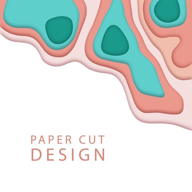 Abstrait dans le style de l'art papier. Vecteur Premium