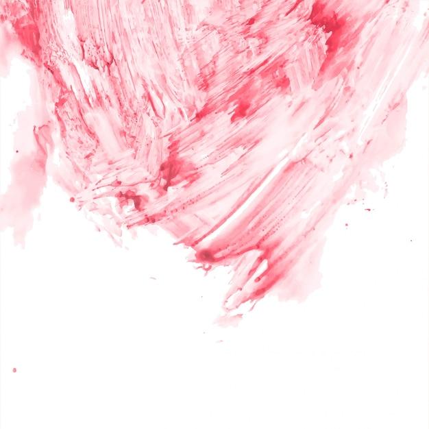 Abstrait décoratif aquarelle rouge Vecteur gratuit