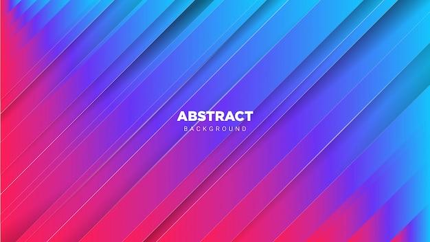 Abstrait avec dégradé bleu et rose Vecteur Premium