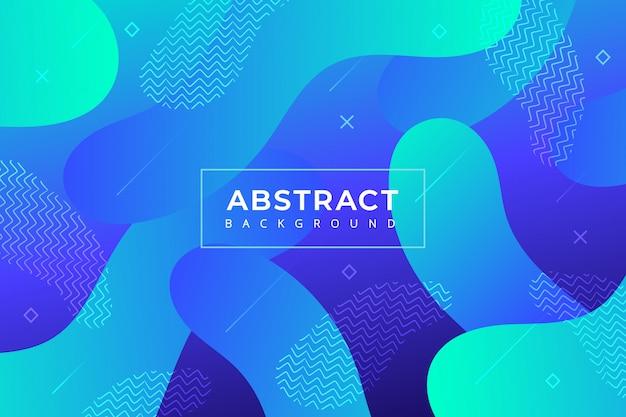 Abstrait dégradé avec des formes modernes Vecteur gratuit