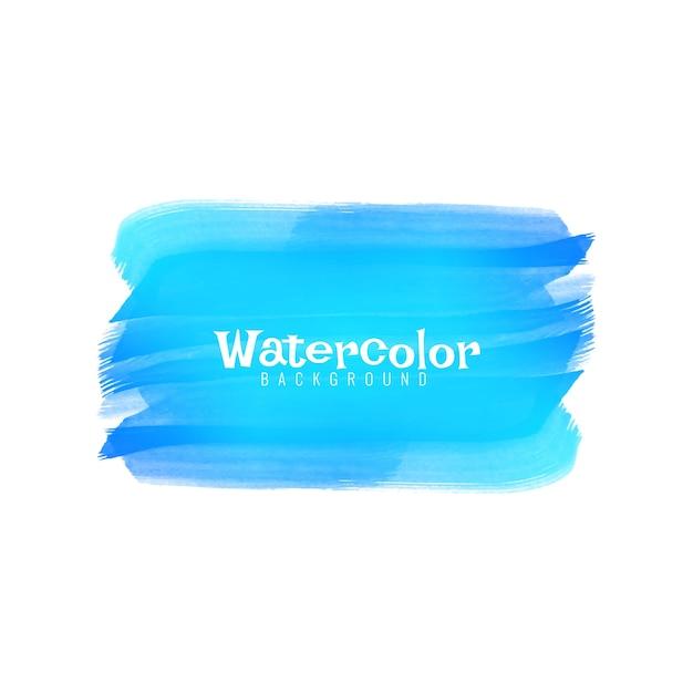 Abstrait Design Aquarelle Bleu Vecteur gratuit