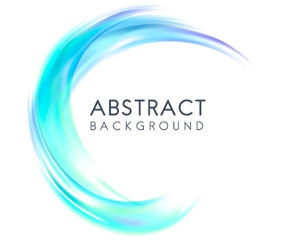 Abstrait design en bleu Vecteur gratuit