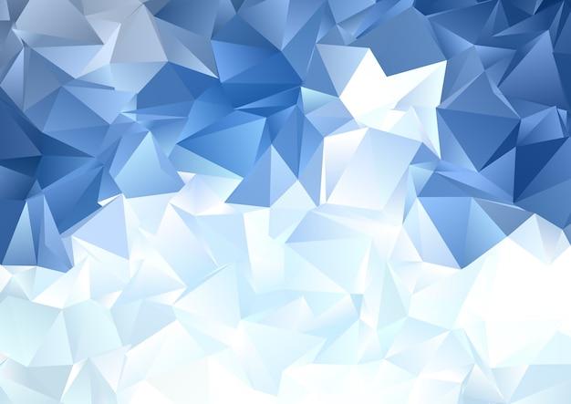 Abstrait Avec Un Design Low Poly Bleu Glace Vecteur gratuit