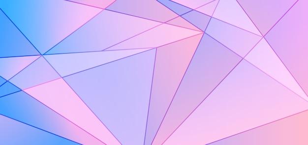 Abstrait Design Polygonale Dégradé Bleu Et Rose Vecteur Premium
