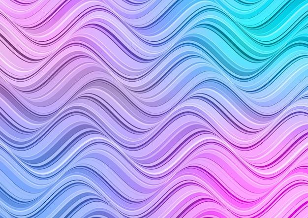 Abstrait Avec Un Design De Vagues De Couleur Pastel Vecteur gratuit