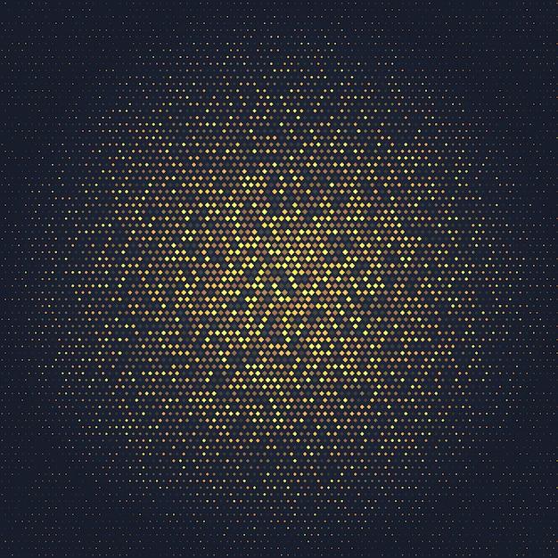 Abstrait avec dessin d'or Vecteur gratuit