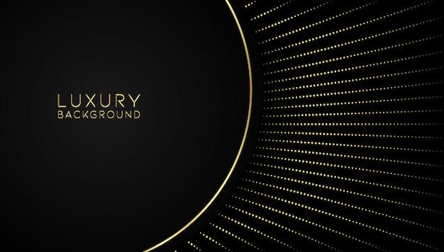 Abstrait doré de luxe Vecteur Premium