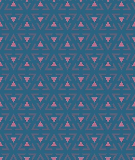 Abstrait du modèle triangulaire sans soudure. Vecteur Premium