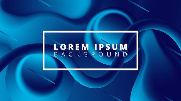 Abstrait dynamique lumière bleue Vecteur Premium