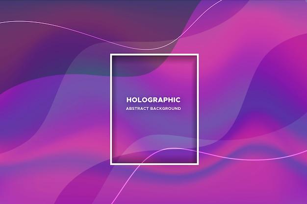 Abstrait dynamique avec des vagues colorées Vecteur gratuit