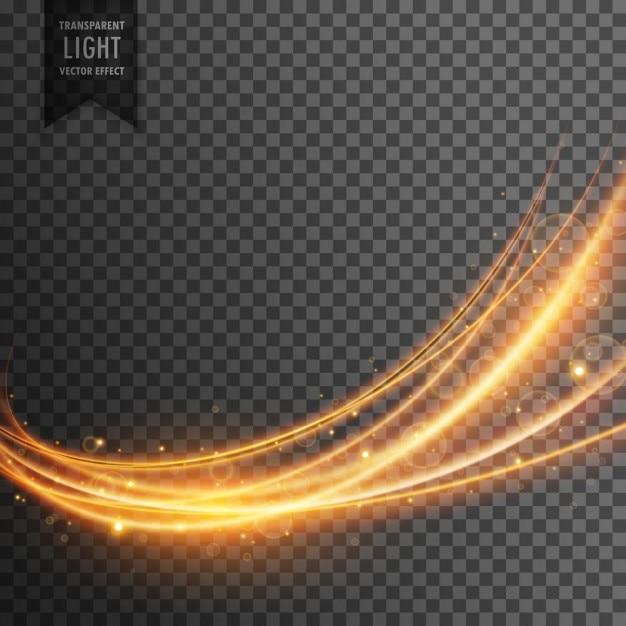 Abstrait effet de lumière transparente dans le style d'onde Vecteur gratuit