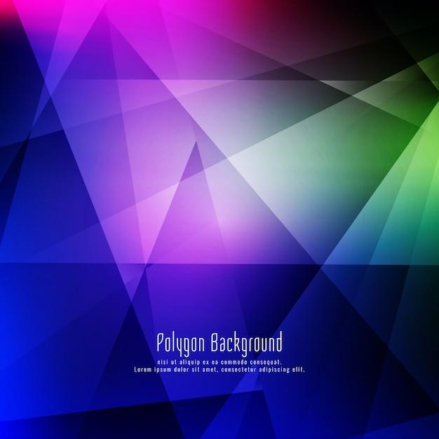Abstrait élégant géométrique coloré Vecteur gratuit