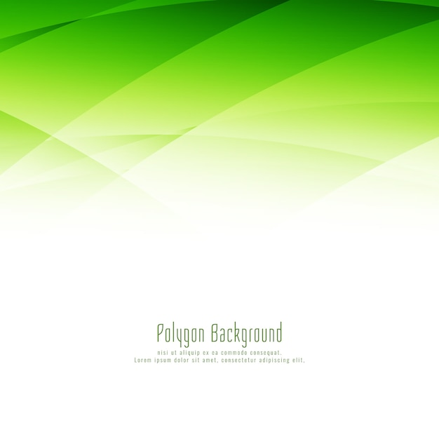 Abstrait élégant Polygone Vert Design élégant Fond Vecteur gratuit