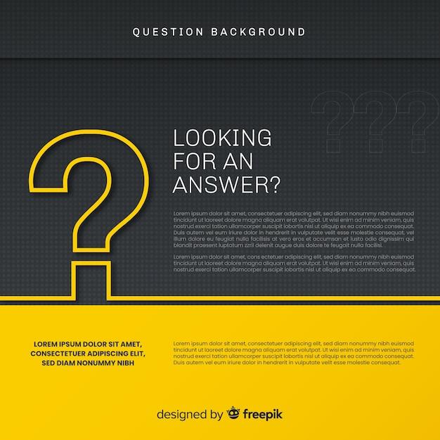 Abstrait élégant Question Noir Et Or Vecteur gratuit